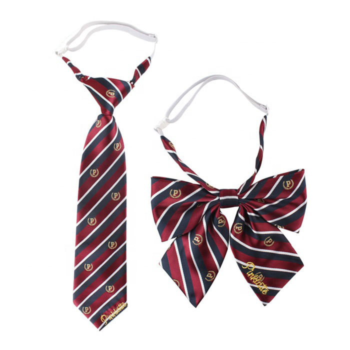 Tie and bow tie for students