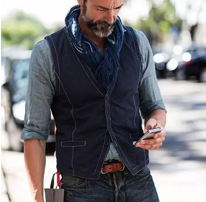 The technique of Men's Waistcoat collocation