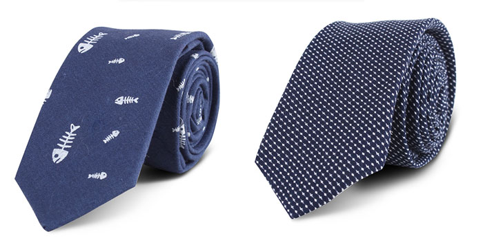 The main series of neckties from Xiuhe Necktie Factory