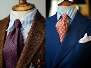 The nobility of ties-The silk ties