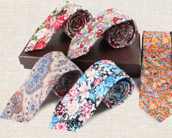 A man must have a tie - a printed floral tie