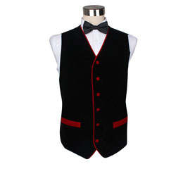 mens black fashion velvet vest
