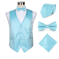 Custom high-end men's polyester party vest set