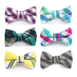 Factory custom various casual cotton bow ties