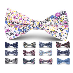 2018 custom printed cotton bow tie for party