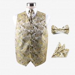 Customize various paisley party vest set
