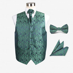 fashion02 men's wedding vest set