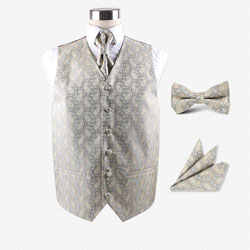 high-end05 men's party wedding hotel vest set