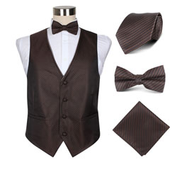 fashion wedding party men's vest set