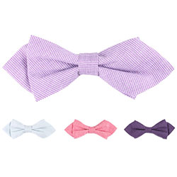 New sharp-angled casual cotton bow tie for kids