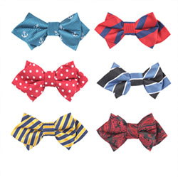 Fashion kids sharp-angled bow tie