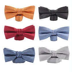 Fashion Pure color polyester bow tie