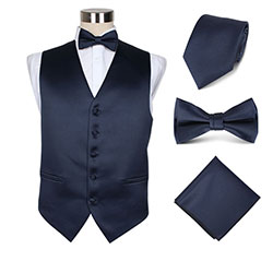 mens polyester suit vest set