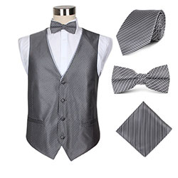 waiters polyester vest set