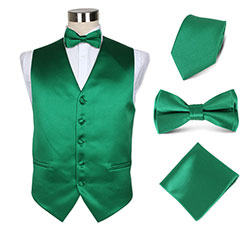 hotel polyester vest set for waiters