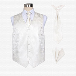 silk wedding vest set for men