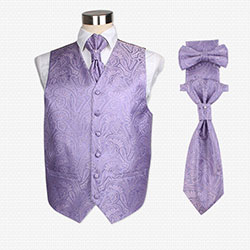 casual silk vest set02 for men