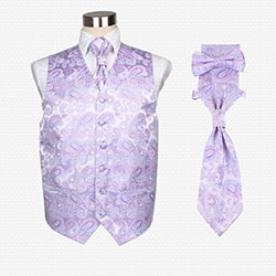 casual silk vest set for men