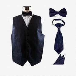 mens wedding polyester vest set