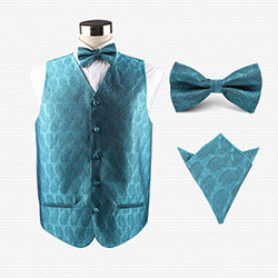 wedding02 silk vest set for mens