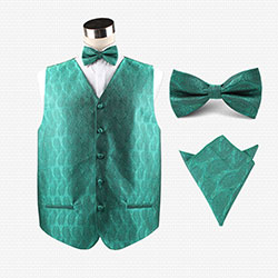 party polyester vest set for men