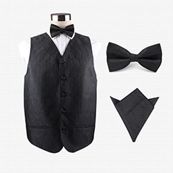 silk vest set for waiters
