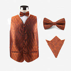 Silk party vest set for men