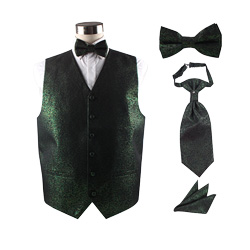 wedding polyester vest set for men