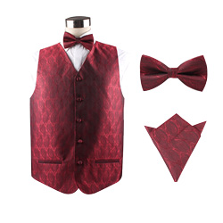 Custom wedding silk vest set for men