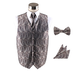 Fashion custom Polyester wedding vest set for men