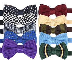 Factory Outlet Custom fashion knitted bow ties for Adults and children