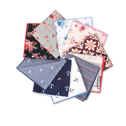 High-end personalized custom printed cotton pocket square