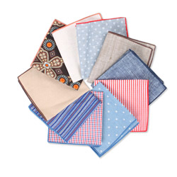 Factory custom printed linen cotton pocket square