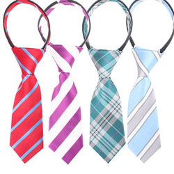Fashion kids zipper necktie