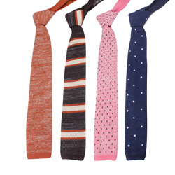 2018 new designs Fashion mens knitted cotton&linen tie