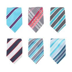Latest striped polyester men's ties