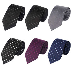 New style dot polyester business ties