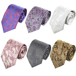 Factory custom high-end silk business Paisley tie