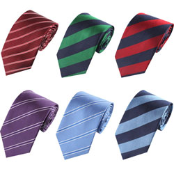 Men's striped business tie