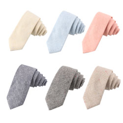 Custom/Wholesale casual cotton linen ties