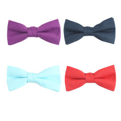 Fashion cotton plain bow ties