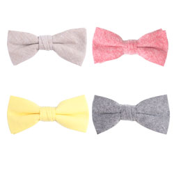 New style cotton plain bow ties