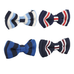 Fashion polyester knitted bow tie
