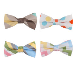 Fancy printed cotton bow tie