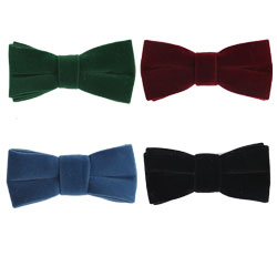 Fashion polyester soft nap bow tie