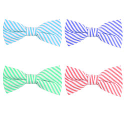 Fashion striped casual cotton bow tie