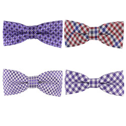 Polyester grid bow tie