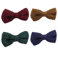 Fashion knitted plain bow ties