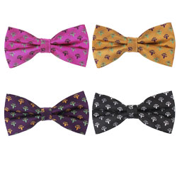 Fashion silk woven flower bow tie