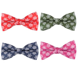 High-end silk woven snowflake bow tie